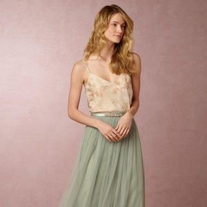 Anthropologie BLHDN Inesse Watercolor-Blush Tank 0